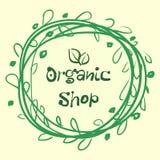 La colección plana de la etiqueta del producto orgánico 100 y la comida natural de la calidad superior badge elementos Imagen de archivo