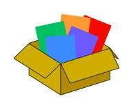 La colección recicla el empaquetado marrón de la caja Vector Imagenes de archivo