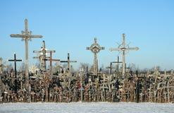 La colina de cruces imagen de archivo libre de regalías