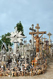 La colina de cruces, Lithuanian Europa Oriental Fotos de archivo