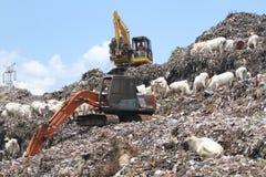 La colina de la basura Imágenes de archivo libres de regalías