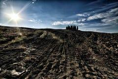 La colina de Toscana, paraíso está después II Foto de archivo libre de regalías