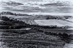 La colina de Toscana, paraíso está después III Imagen de archivo libre de regalías
