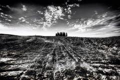 La colina de Toscana, paraíso está después IV Imágenes de archivo libres de regalías