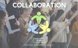 La collaboration collaborent concept d'entreprise de connexion image stock