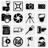 Icônes de photographie Photographie stock