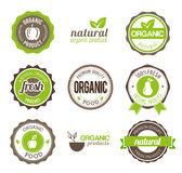 Insignes organiques d'Eco Photos libres de droits