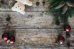 La collection d'ornements de Noël, cadeau, présente pour des enfants Images libres de droits