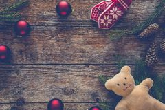La collection d'ornements de Noël, cadeau, présente pour des enfants Images stock
