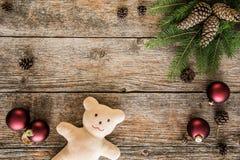 La collection d'ornements de Noël, cadeau, présente pour des enfants Image stock