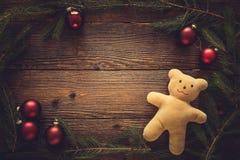 La collection d'ornements de Noël, cadeau, présente pour des enfants Photographie stock