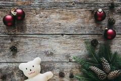 La collection d'ornements de Noël, cadeau, présente pour des enfants Photos libres de droits