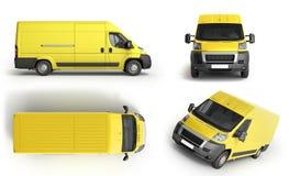 La collection 3d rendent la livraison jaune Van Icon Image stock