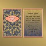 La collection de cartes ou d'invitations avec les éléments décoratifs de conception de vintage rond d'ornement de mandala pour le illustration de vecteur