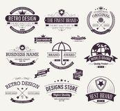 La collection de conception de logo de typographie, rétro vintage marque la collection Illustration courante de vecteur illustration stock