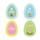 La collection de dentelle de Pâques a dénommé des labels aux couleurs pastel Images libres de droits