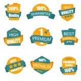 La collection de labels de la meilleure qualité et de haute qualité dirigent l'illustration Photographie stock