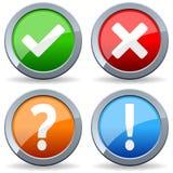 Oui boutons de question de pas de réponse Photos stock