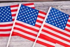 La collection de mini drapeaux des Etats-Unis se ferment  Images libres de droits
