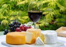 La collection fran?aise de fromages, le Riche de Saveurs jaune, le carreau de Vieux et les fromages de Peres de f?ves de Le peche photos libres de droits