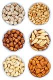 La collection Nuts d'écrou de la cuvette ci-dessus de format de portrait de noisettes est images stock