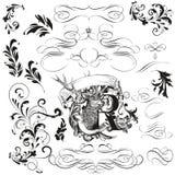 La collection ou l'ensemble de cru a dénommé les cadres calligraphiques de la Floride illustration de vecteur