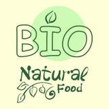 La collection plate de label du produit biologique 100 et la nourriture naturelle de qualité de la meilleure qualité badge des él illustration libre de droits