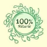 La collection plate de label du produit biologique 100 et la nourriture naturelle de qualité de la meilleure qualité badge des él Photographie stock
