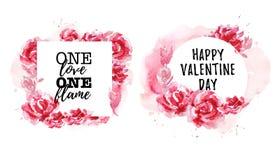La collection tirée par la main d'amour artistique, mariage, félicitation de Valentine conçoit Photographie stock