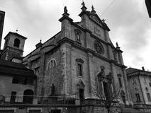 La Collegiata, Bellinzona Ticino, Suíça Imagens de Stock