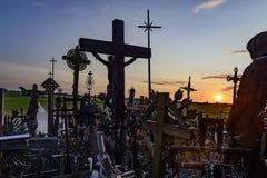 La collina degli incroci, Lituania, Europa Fotografia Stock