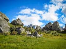La collina del castello, isola del sud della Nuova Zelanda il giorno nuvoloso Fotografia Stock Libera da Diritti