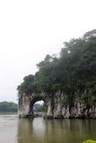La collina del tronco dell'elefante a GUILIN Fotografia Stock Libera da Diritti
