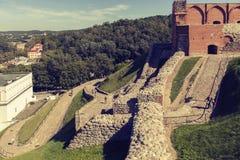 La collina di Gedeminas, Vilnius Fotografia Stock