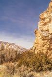 La collina rocciosa a Manila, Utah fotografia stock