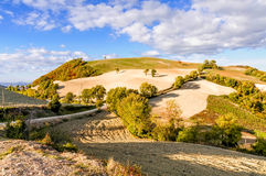La colline dans le Montefeltro (Italie) Photo libre de droits