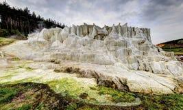 La colline de chaux d'Egerszalok Images libres de droits