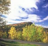 La colline de Lutsen donnent sur - le Minnesota Image stock