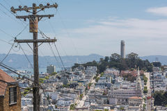 La colline de San Francisco Photo stock