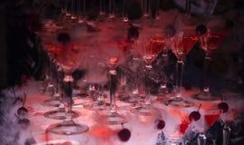 La colline des verres avec le champagne Photographie stock libre de droits