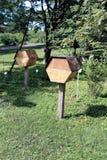 La colmena de madera Imagen de archivo libre de regalías