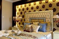 La colocación magnífica del color del dormitorio adorna Fotos de archivo libres de regalías