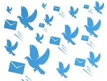 La colomba e la posta avvolgono illustrazione di stock