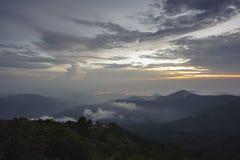 La Colombia - alba sopra la sierra Nevada de Santa Marta Fotografia Stock