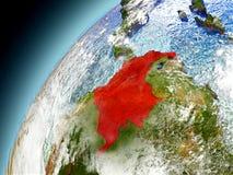 La Colombia dall'orbita di Earth di modello Fotografia Stock Libera da Diritti