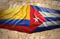 La Colombie et le Cuba illustration stock
