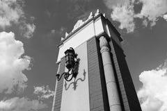 La colonna d'accoglienza del portone Fotografia Stock