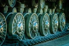 La colonna dei carri armati è in missione Immagine Stock Libera da Diritti