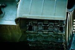 La colonna dei carri armati è in missione fotografie stock