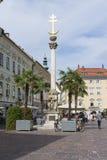 La colonna della trinità santa a Klagenfurt Fotografie Stock Libere da Diritti